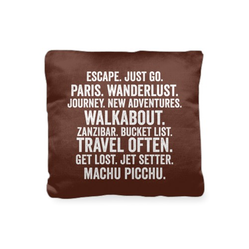 In Your Words Pillow, Cotton Weave, Pillow (Black), 16 x 16, Single-sided, Brown