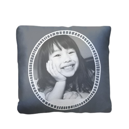 Doodle Frame Pillow, Plush, Pillow (Plush), 16 x 16, Single-sided, Grey