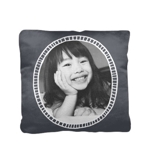 Doodle Frame Pillow, Cotton Weave, Pillow, 16 x 16, Double-sided, Grey