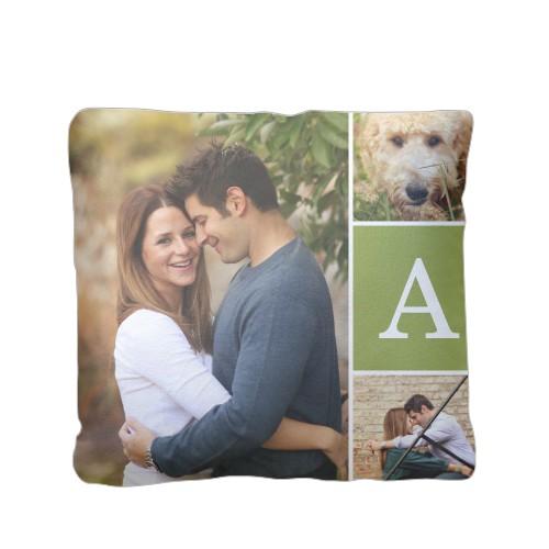 Basic And Bold Pillow, Plush, Pillow (Plush), 16 x 16, Single-sided, Green