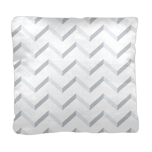 Mandy Moore Collection Modern Chevron Pillow, Cotton Weave, Pillow, 18 x 18, Double-sided, White