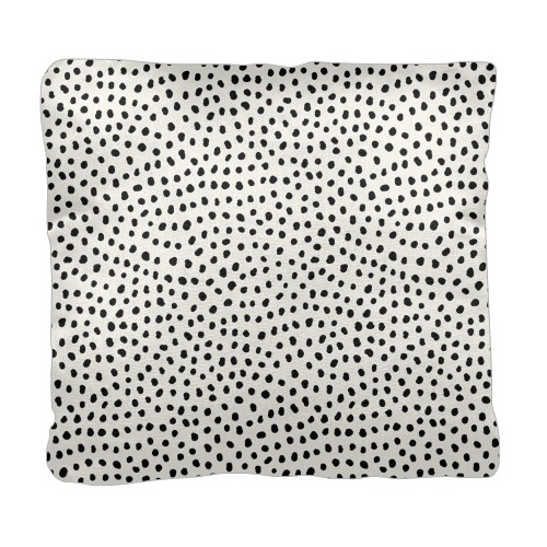 Organic Dot Pillow, Cotton Weave, Pillow (Ivory), 18 x 18, Single-sided, White