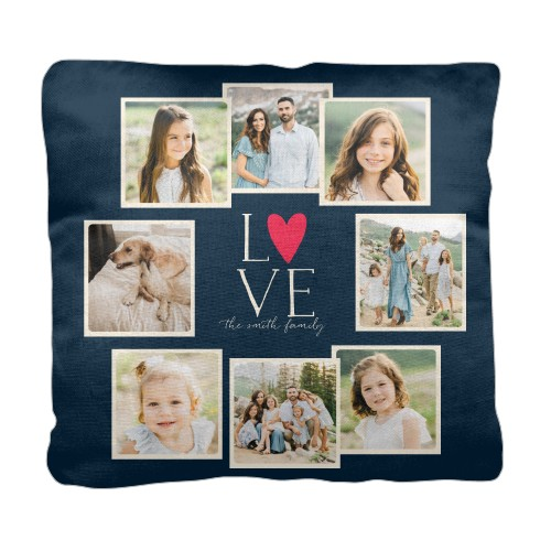 Love All Around Collage Pillow, Cotton Weave, Pillow (Black), 18 x 18, Single-sided, Black