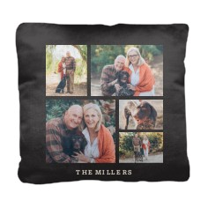 gallery of five pillow