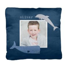 nautical whale pillow