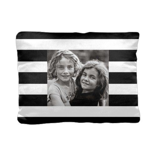 Bold Stripes Pillow, Cotton Weave, Pillow, 12 x 16, Double-sided, Black