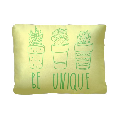 Be Unique Pillow, Sherpa, Pillow (Sherpa), 12 x 16, Single-sided, White