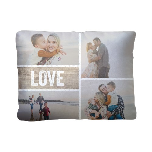 Textured Frames Pillow, Plush, Pillow (Plush), 12 x 16, Single-sided, Brown