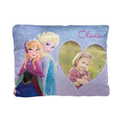 Disney Frozen Anna And Elsa Pillow, Cotton Weave, Pillow (Ivory), 12 x 16, Single-sided, Purple