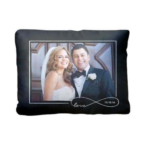 Love Infinity Outline Pillow, Plush, Pillow (Plush), 12 x 16, Single-sided, Black
