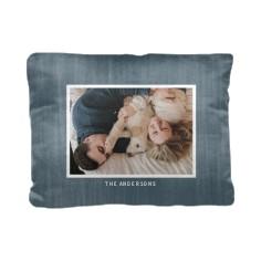 denim frame pillow