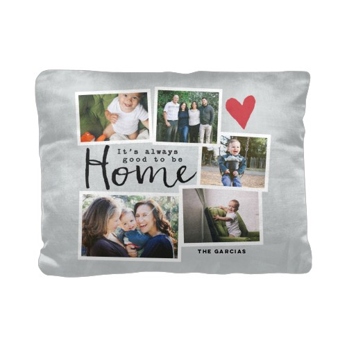 Good To Be Home Pillow, Cotton Weave, Pillow (Ivory), 12 x 16, Single-sided, Grey