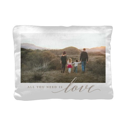 All You Need is Love Pillow, Cotton Weave, Pillow (Black), 12 x 16, Single-sided, White