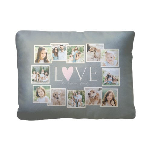 Love All Around Collage Pillow, Sherpa, Pillow (Sherpa), 12 x 16, Single-sided, Grey