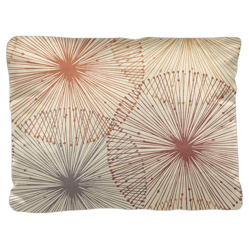 Dandelions Pillow, Cotton Weave, Pillow (Ivory), 18 x 24, Single-sided, White