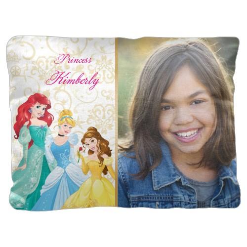 Disney Princesses Pillow, Cotton Weave, Pillow, 18 x 24, Double-sided, White
