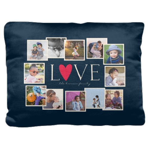Love All Around Collage Pillow, Cotton Weave, Pillow (Ivory), 18 x 24, Single-sided, DynamicColor