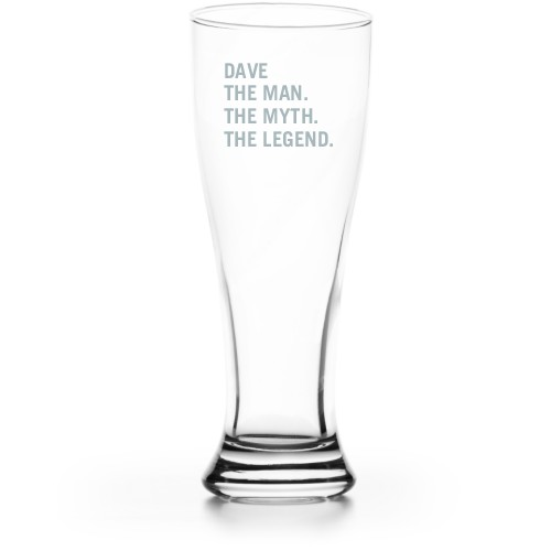 The Man Pilsner Glass, Glass, Pilsner Glass Double Side, Clear Glass, White