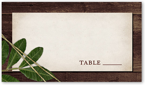 Ingrained Love Wedding Place Card