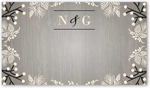 Lovely Wood Wedding Place Card