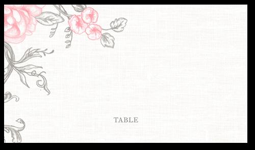 Antique Rose Scrolls Wedding Place Card