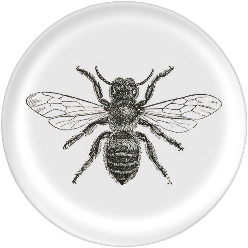 Bee Plate, 10x10 Plate, Multicolor