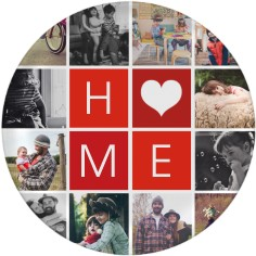 home collage plate