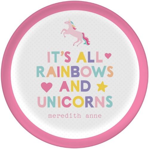Emoji Rainbow Unicorn Plate | Dinner Plates | Home Decor | Shutterfly