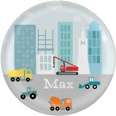 transportation construction zone plate