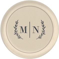 rustic monogram collage plate
