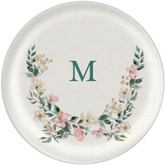 floral monogram plate