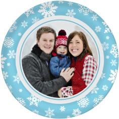 winter snowflakes gallery plate