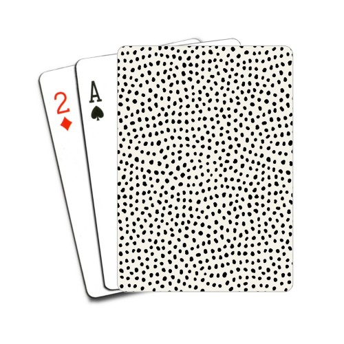 Black and White Organic Dots Playing Cards