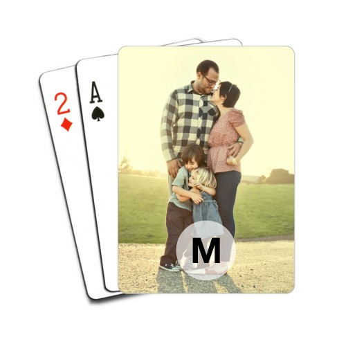 Monogram Circle Playing Cards, White