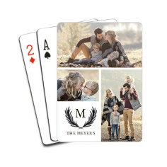 Olive Branch Initial Playing Cards