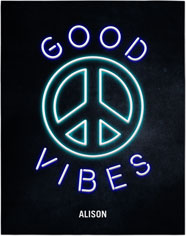good vibes neon premium poster