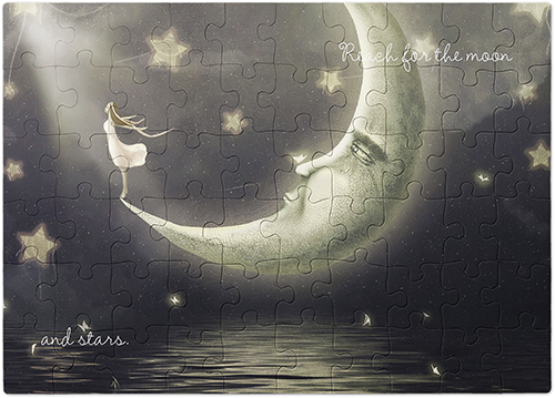 Girl on the Moon Puzzle, 60 pieces, Multicolor