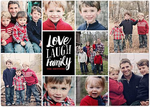 Love Laugh Family Puzzle, 60 pieces, Black