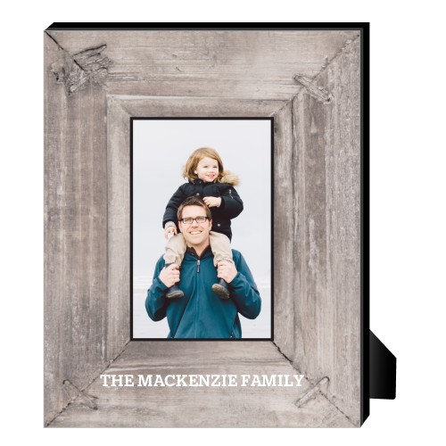 Photo Real Wood Personalized Frame, - No photo insert, 8 x 10 Personalized Frame, Brown