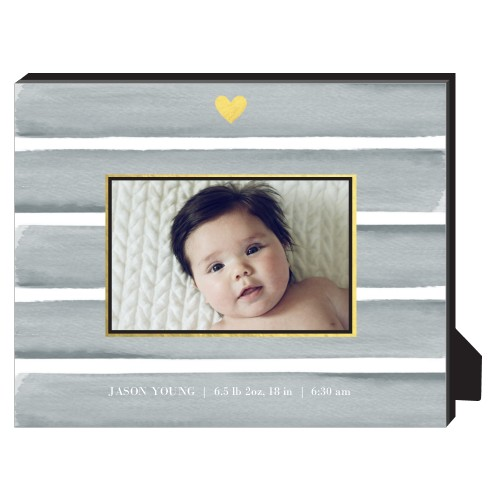 Heart Of Gold Personalized Frame, - No photo insert, 8 x 10 Personalized Frame, Grey