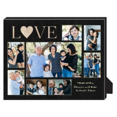 love burlap collage personalized frame