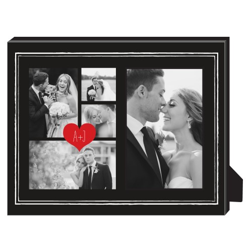 Heart Initials Border Collage Personalized Frame