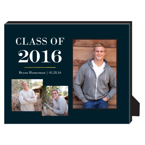 Classic Grad Personalized Frame, - No photo insert, 8 x 10 Personalized Frame, DynamicColor