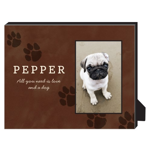 Paws Personalized Frame, - Photo insert, 8 x 10 Personalized Frame, Brown