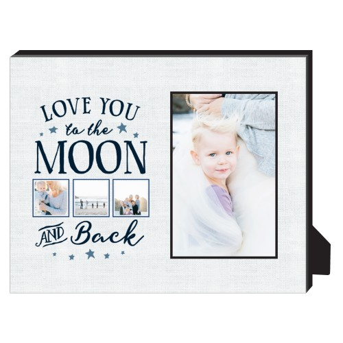 Moon and Back Script Personalized Frame | Personalized Desktop Frame ...