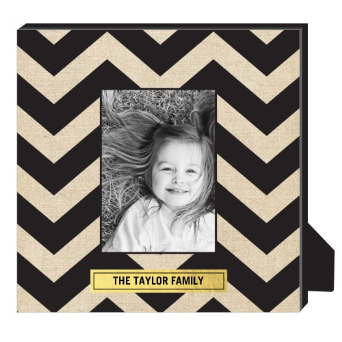 Chevron Frame Personalized Frame, - Photo insert, 11.5 x 11.5 Personalized Frame, Black