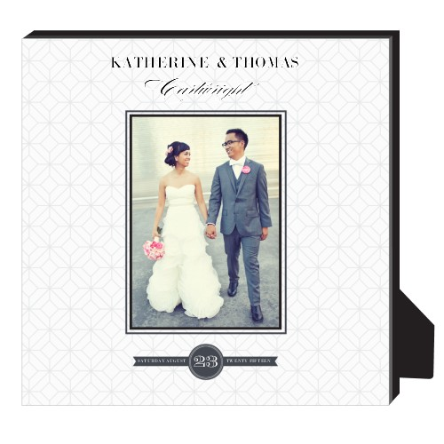 Classic Wedding Personalized Frame, - No photo insert, 11.5 x 11.5 Personalized Frame, White