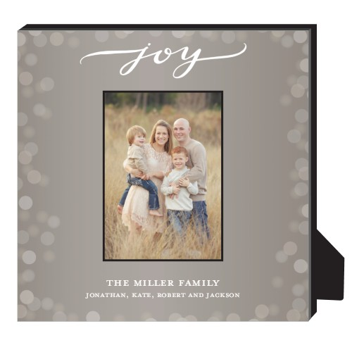 Bokeh Joy Frame Personalized Frame, - No photo insert, 11.5 x 11.5 Personalized Frame, DynamicColor