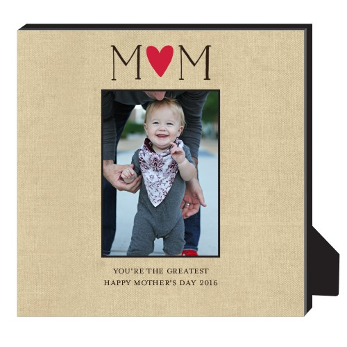 Mom Is The Greatest Personalized Frame, - Photo insert, 11.5 x 11.5 Personalized Frame, Beige