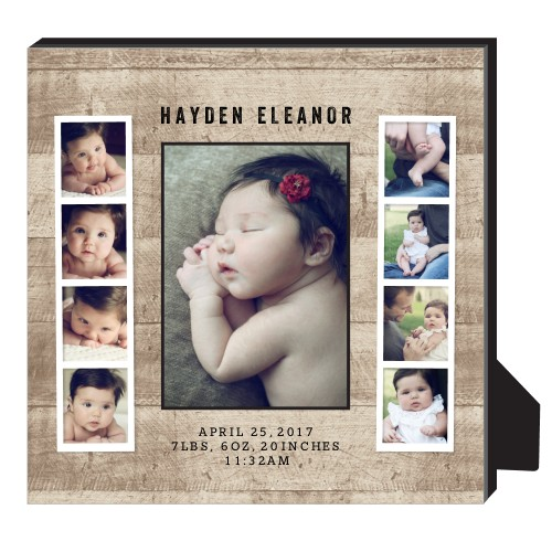 Tilty Strips Personalized Frame, - No photo insert, 8 x 10 Personalized Frame, DynamicColor